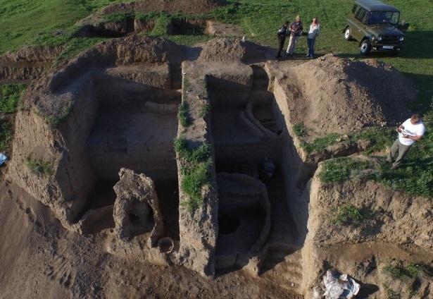 view of archaeological excavations at Gadachrili Gora