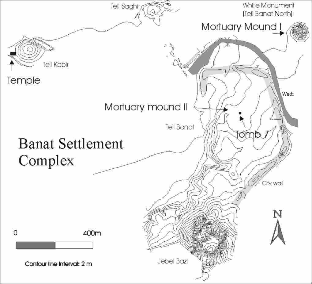 Map of Tell Banat