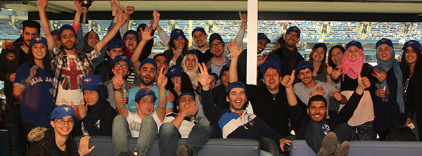 NMC students at a Blue Jays game
