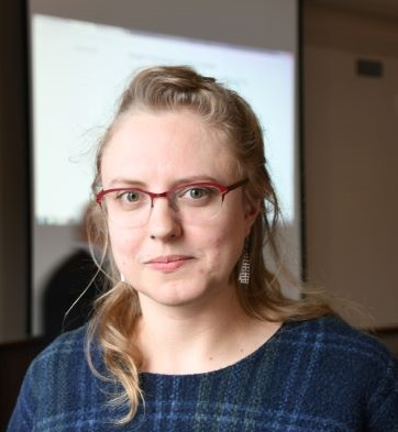 Professor Jeannie Miller wearing glasses