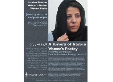 Flyer of Iranian Studies Webinar Series-Women Poets