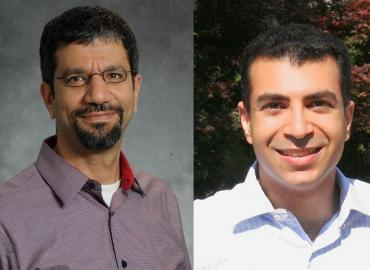 Photo of Walid Saleh on the left and Shafique Virani on the right