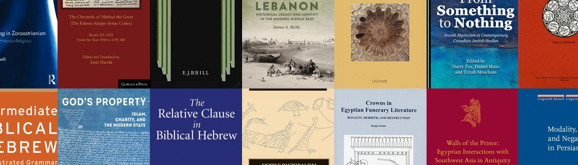 Covers of books written by NMC professors, arranged in a grid
